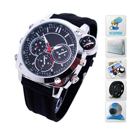 Ankaka F20706 Leather Belt Wrist Watch with Camera, Video Recording & Waterproof Compass - 1080P