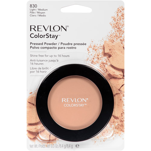 Revlon ColorStay Pressed Powder, 830 Light/Medium, 0.3 oz, Light/Medium