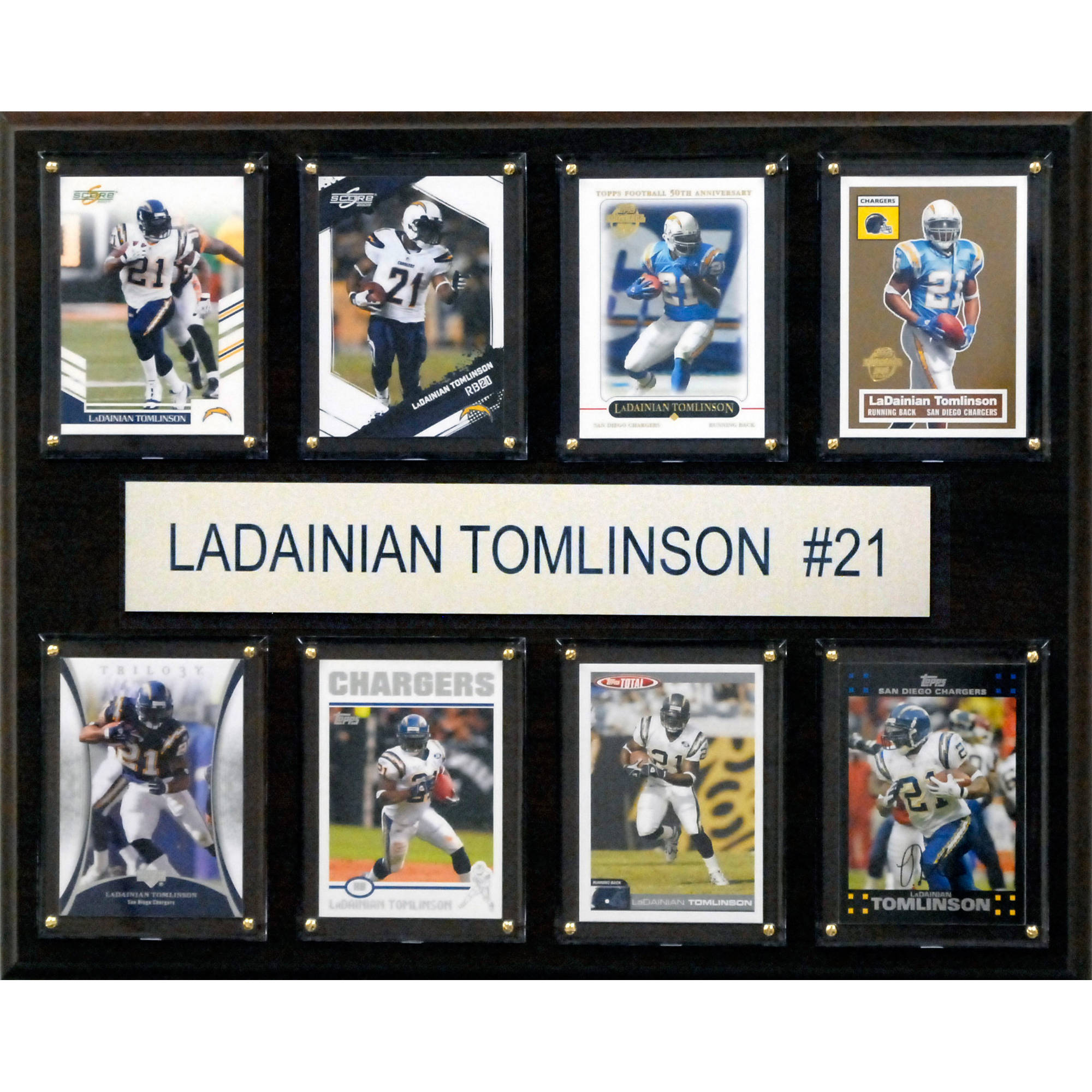 C&I Collectables NFL 12x15 LaDainian Tomlinson San Diego Chargers 8-Card Plaque