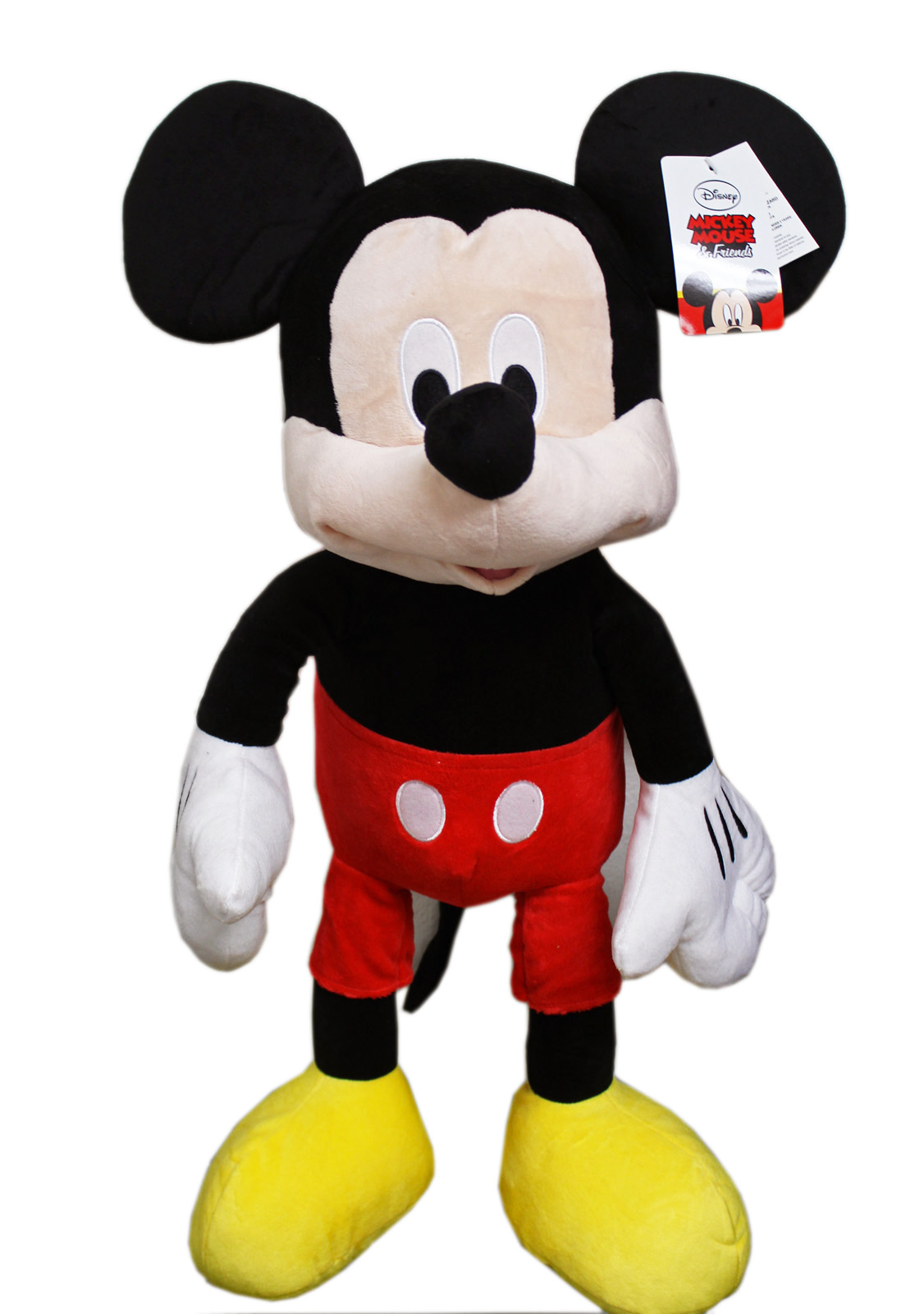 Disney's Mickey Mouse Classic Clothes Jumbo Plush Toy w Secret Pouch (23in) by