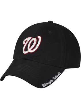 Women's Fan Favorite Navy Washington Nationals Sparkle Adjustable Hat - OSFA