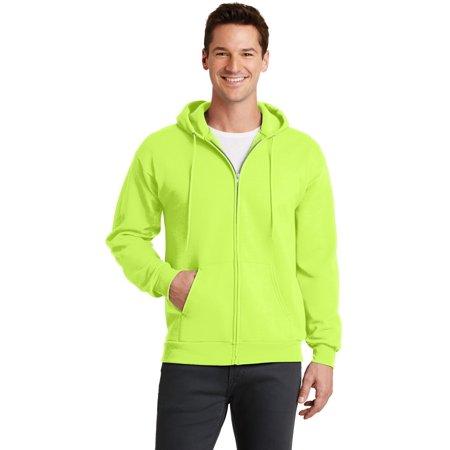Port & Company® - Core Fleece Full-Zip Hooded Sweatshirt. Pc78zh Neon Yellow Xl - image 1 de 1