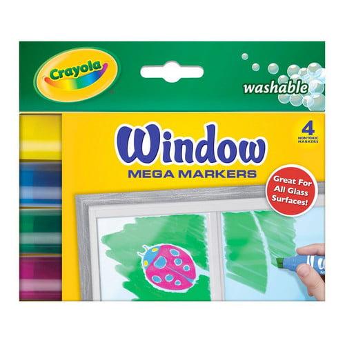Crayola Mega Window Markers 4 Colors