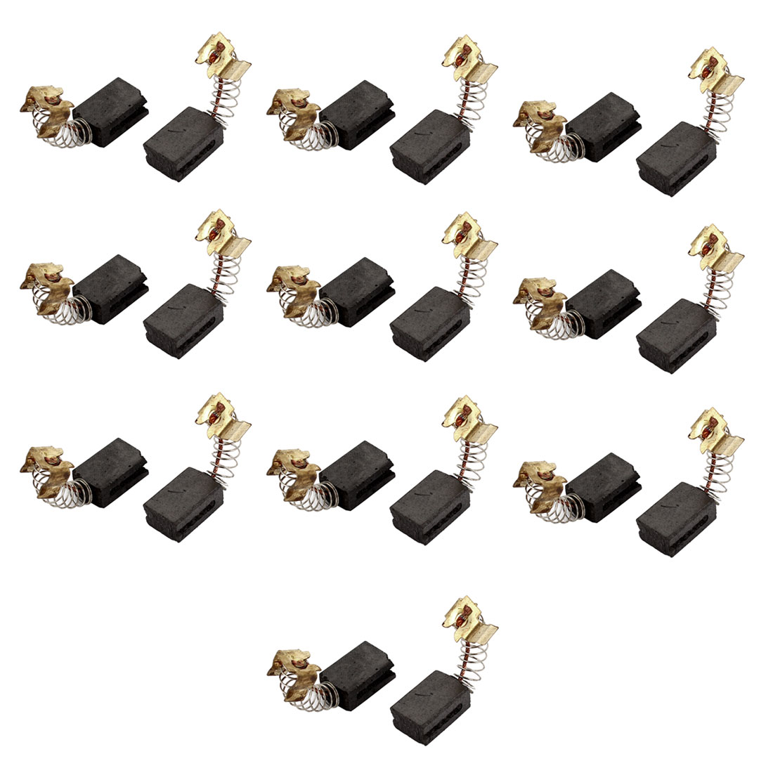 Unique Bargains 20 Pcs 13mm x 9mm x 6mm Power Tool Carbon Brushes for Angle Grinder