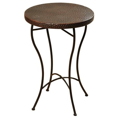Graphite Powder Coat Finish (Round Hammered Copper Accent Table - Oil-Rubbed Bronze Powder Coat Finish Legs)