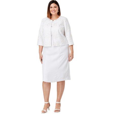 Jessica London Women's Plus Size Lace Jacket Dress Jessica Lace Wedding Dress