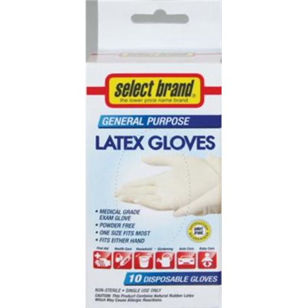 - S/B Glove Latex 10Ct 1-Size, PartNo 1147 [10CT], by Medline Industries, Househol