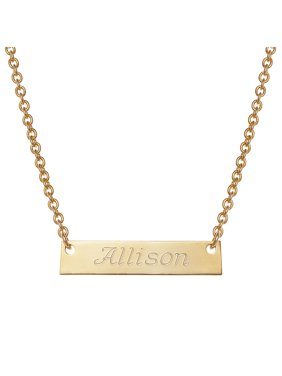 e118305438f3e9 Product Image Personalized Girls' Gold -Tone Engraved Name Bar Necklace
