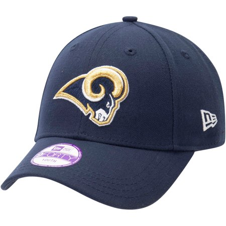 Los Angeles Rams New Era Youth League 9FORTY Adjustable Hat - Navy - OSFA (Rams Hat New Era)