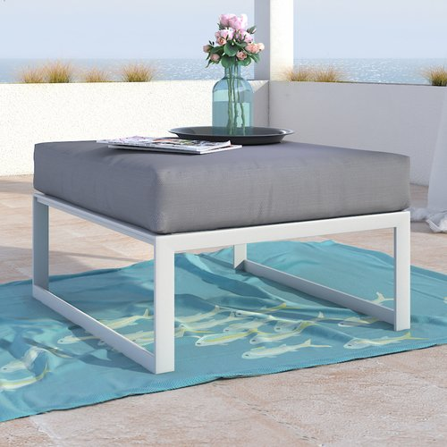 Elle Decor Mirabelle Outdoor Ottoman with Cushion
