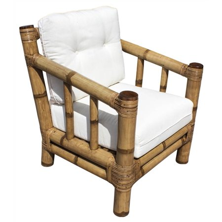 Lounge Chair in Natural Finish (Leilani Rainforest) ()