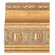 "Picture Frame Moulding (Wood) - Traditional Gold Finish - 2.5"" width - 3/4"" rabbet depth"