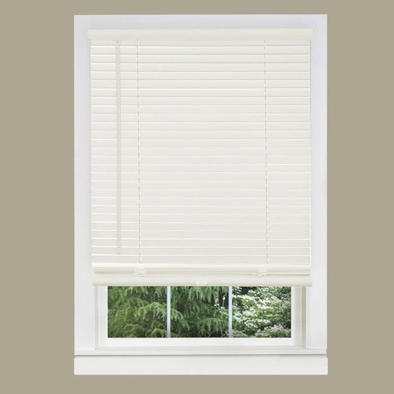 Window Blinds Mini Blinds 1 Slats White Venetian Vinyl Blind