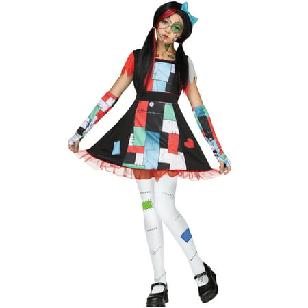 Rag Doll Sally Nightmare Before Christmas Girls Halloween Costume](Sully Halloween Costumes)