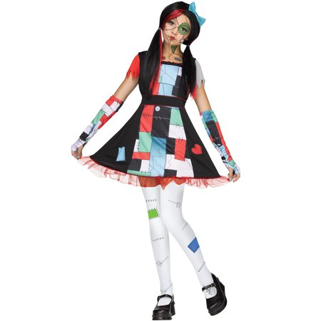 Rag Doll Sally Nightmare Before Christmas Girls Halloween Costume](Halloween Costume Rag Doll)