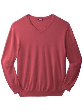 KingSize Men's Big & Tall Pima V-Neck Sweater