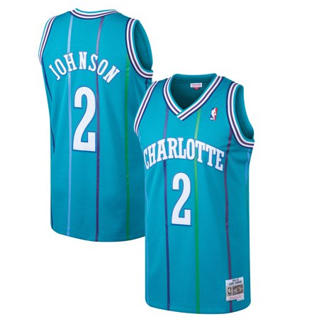 Larry Johnson Charlotte Hornets Mitchell & Ness 1992-93 Hardwood Classics Swingman Jersey - Teal