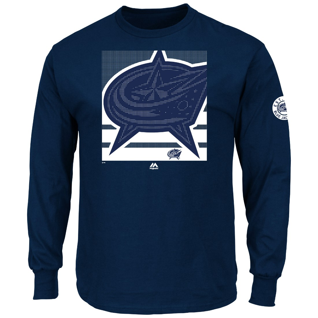 "Columbus Blue Jackets Majestic NHL ""Slashing"" Long Sleeve Men's T-Shirt by Majestic"