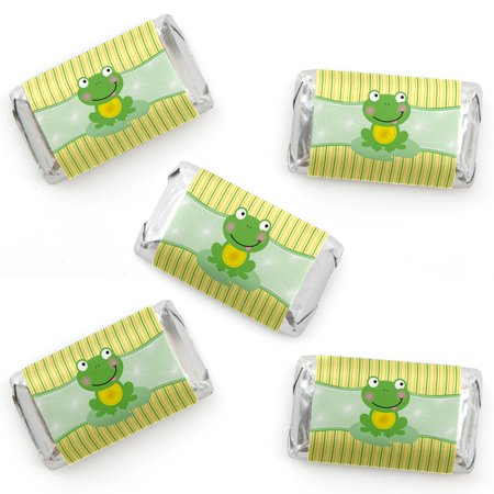Froggy Baby Shower (Froggy Frog - Mini Candy Bar Wrapper Stickers - Baby Shower or Birthday Party Small Favors - 40 Count)