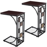 Costway 2pcs Coffee Tray Side Sofa Table Ottoman Couch Console Stand End Tv Lap Snack