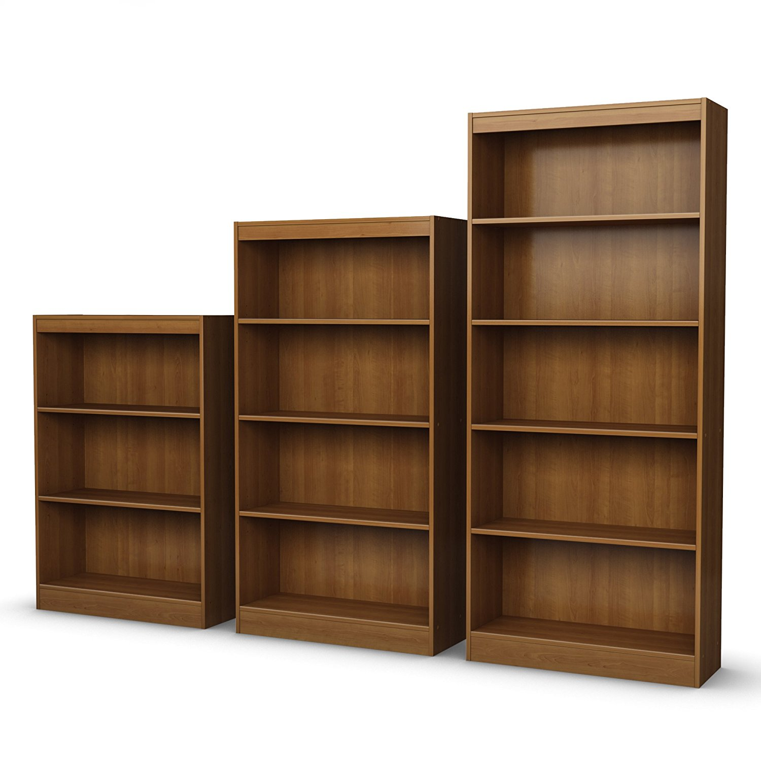 Axess Collection 4 Shelf Bookcase Morgan Cherry 2 Adjustable Shelves And 2 Fixed Shelves By South Shore