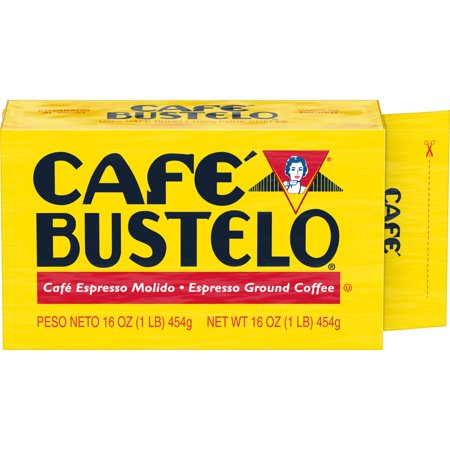 Café Bustelo Ground Coffee, Dark Roast, 16-Ounce Brick