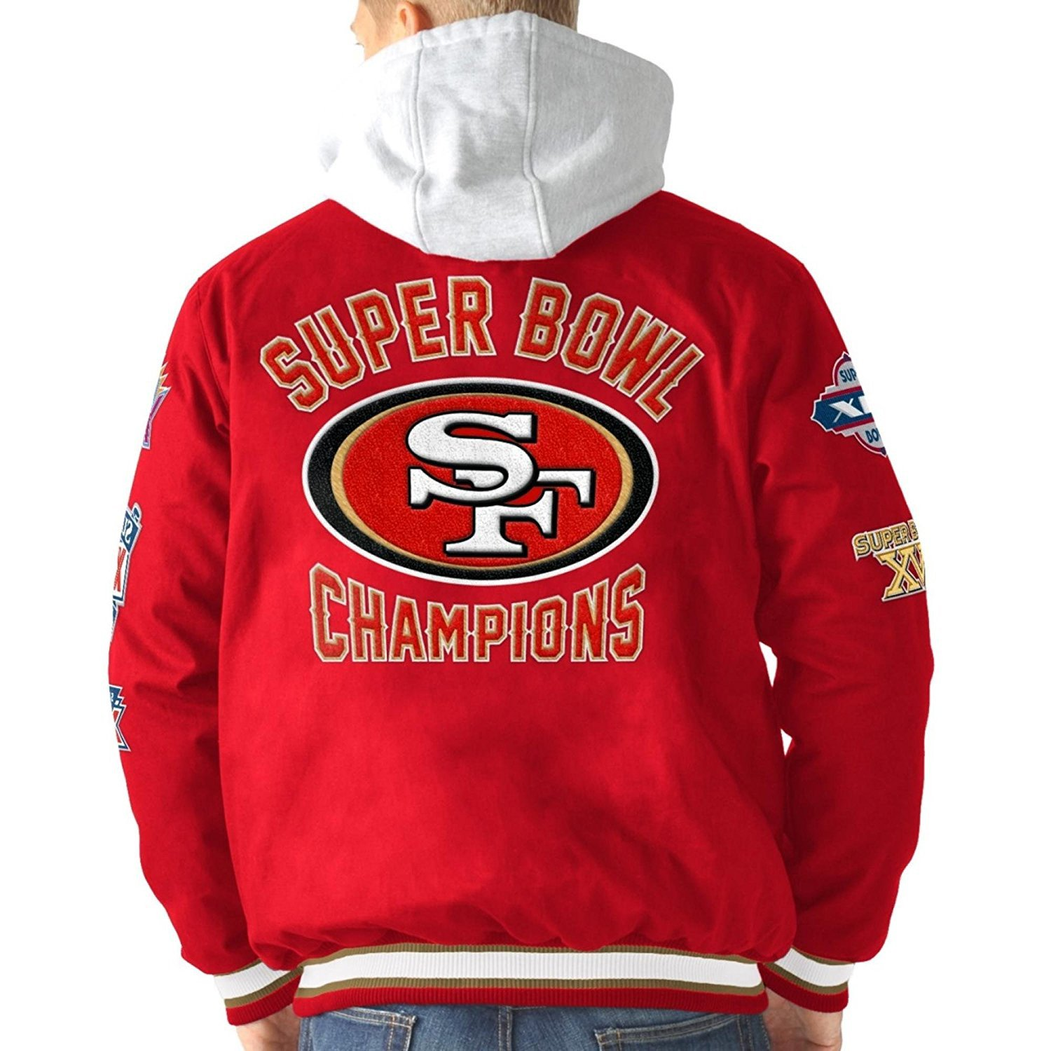 San Francisco 49ers Glory Super Bowl Championship Commemorative Varsity Hooded Jacket by G-III Sports