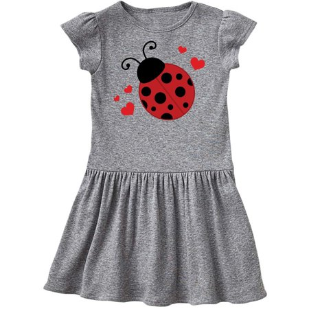 Lady Bug and Hearts Toddler Dress