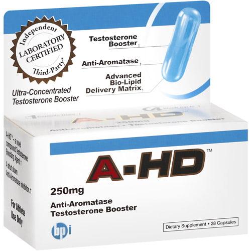 BPI Sports A-HD Anti-Aromatase Testosterone Booster, 28ct