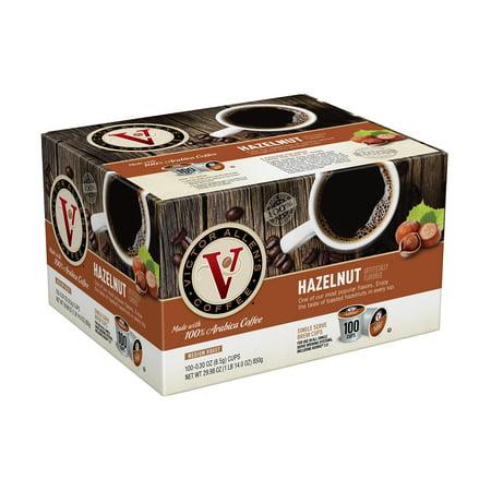 Victor Allen's Coffee K Cups, Hazelnut Single Serve Medium Roast Coffee, 100