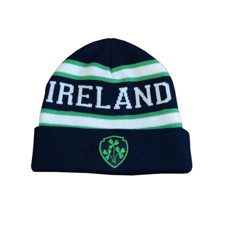 Navy/Green Ireland Knitted Kids Hat - Craft International Hat