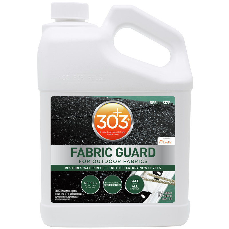 303 (30674) Marine Fabric Guard, Water Repellency and Stain Protection, Gallon