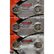 """6 LR1130 (189) Alkaline Button Cell Batteries By maxell """"New hologram packaging"""""""