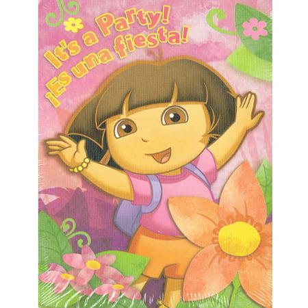 Dora the Explorer It's a Party! 8 Invitations & Thank you Notes - Walmart.com
