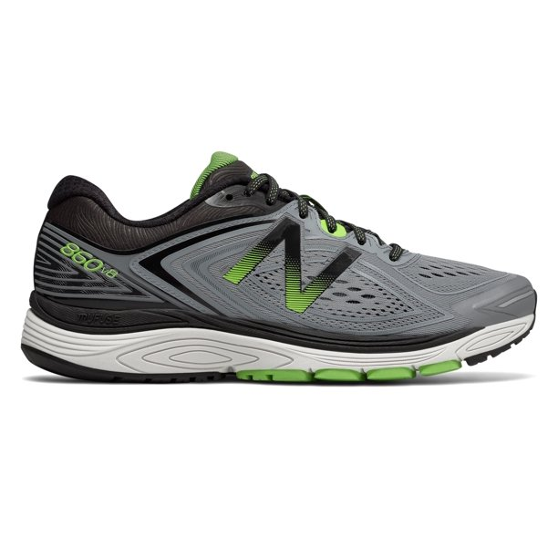 New Balance Men's 860v8 Shoes Grey with Green & Black