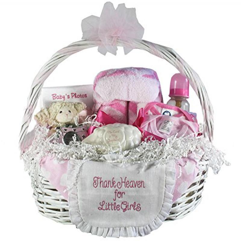 Thank Heaven for Little Babies Gift Basket Girl