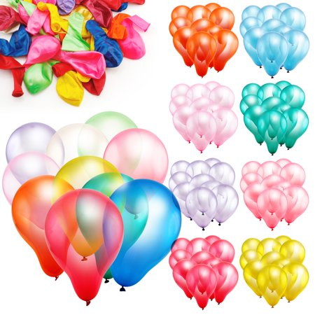 100pcs 10 inch Colorful Round Birthday Wedding Party Latex Balloon Decor Decoration (70 Birthday Balloons)