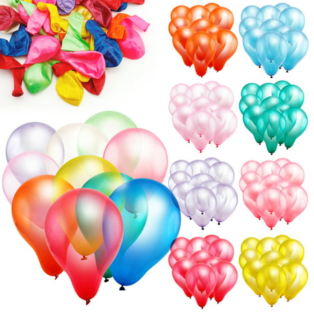 100pcs 10 inch Colorful Round Birthday Wedding Party Latex Balloon Decor Decoration - Decorations For 60 Birthday