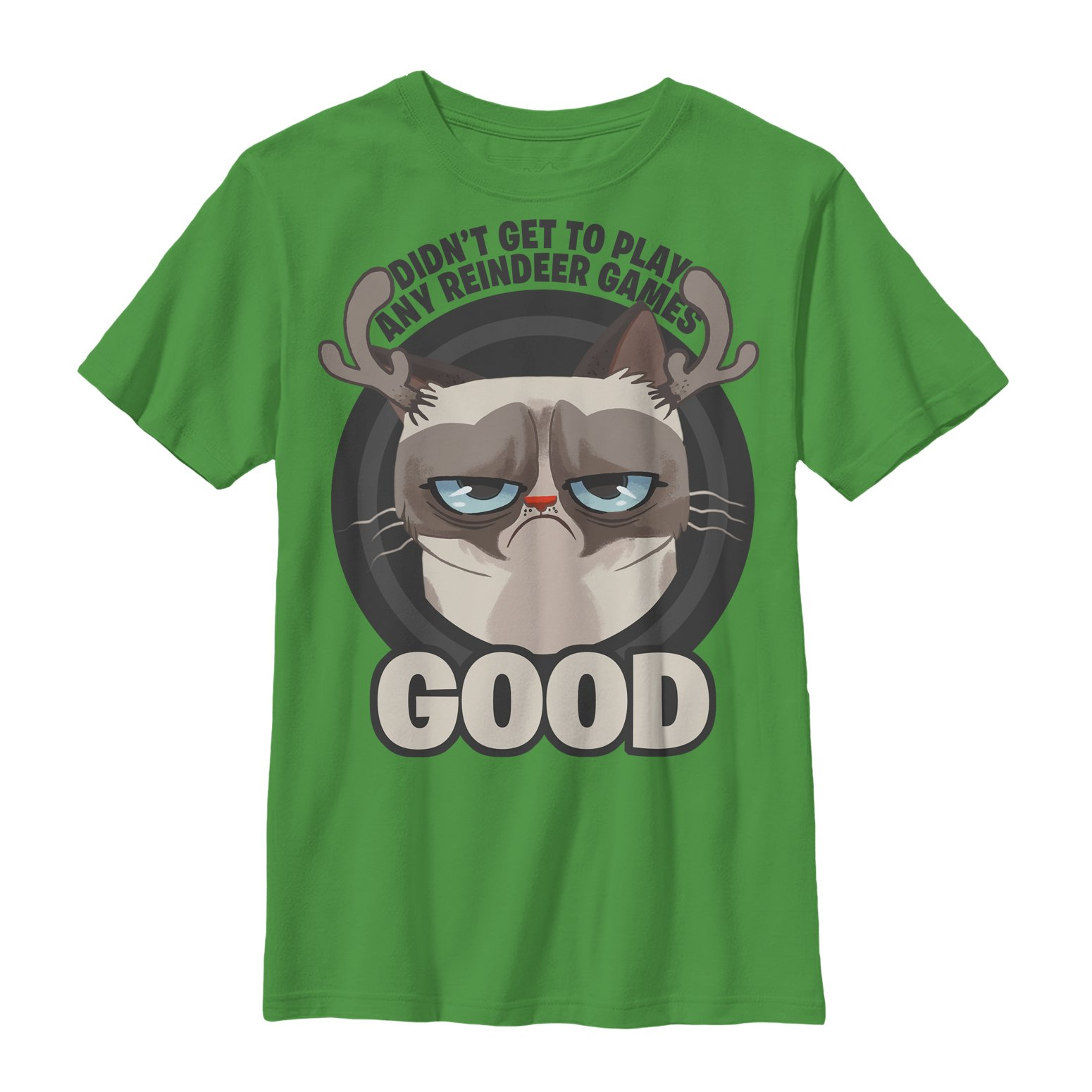 Grumpy Cat Boys' Reindeer Games T-Shirt
