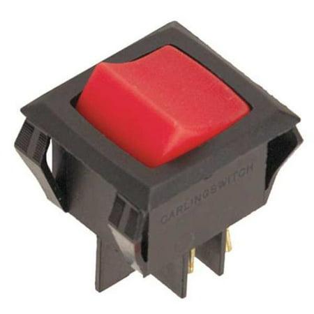 CARLING TECHNOLOGIES LRGSCK611-RS-BO/125N Lighted Rocker Switch, DPST
