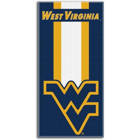 Ncaa West Virginia Mountaineers  Zone Read  30  X 60  Beach Towel
