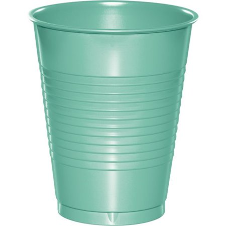 Touch of Color Plastic Cups, 16 Oz, Fresh Mint, 20 Ct
