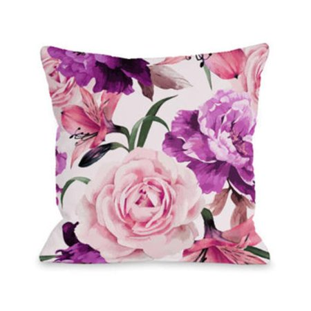 One Bella Casa 74664PL18 18 x 18 in. A Floral Afternoon Lime Pillow - image 1 de 1