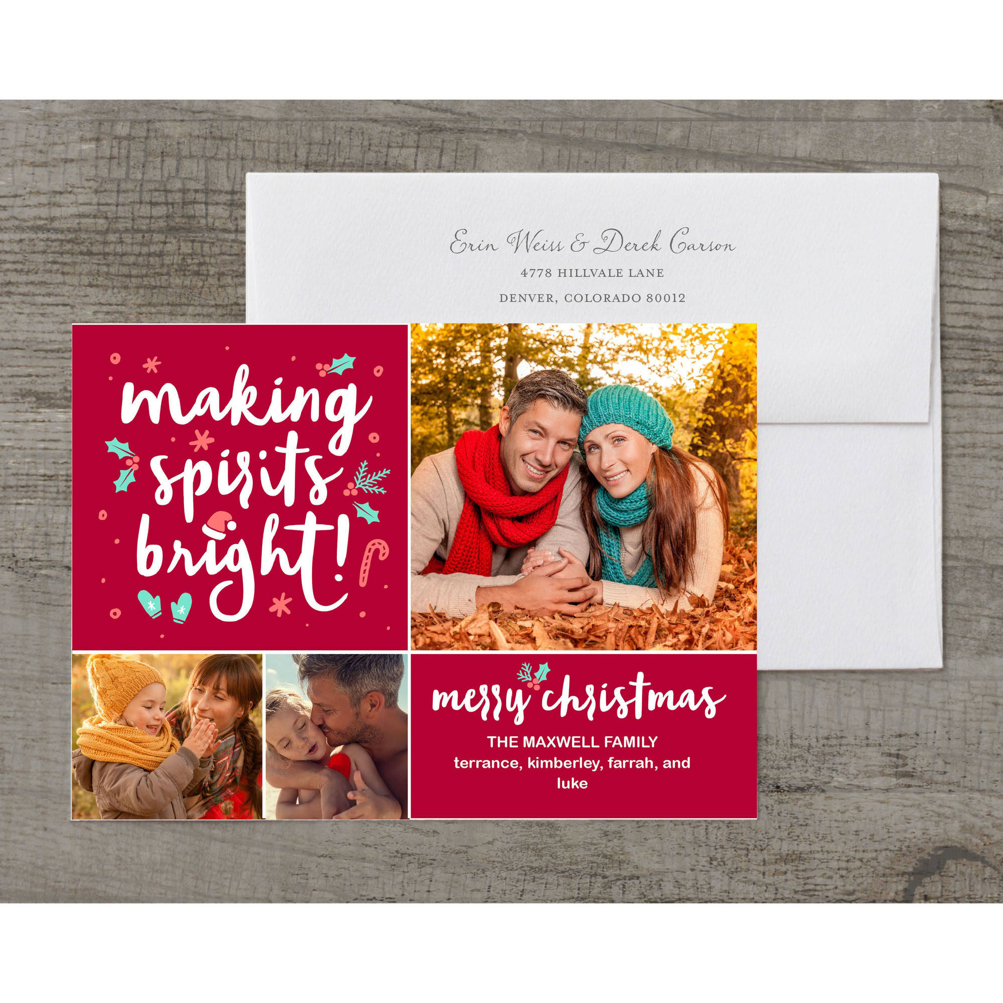 Making Spirits Bright Holiday Card