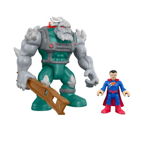 Imaginext DC Super Friends Feature Villain Doomsday and Superman (Super Villain Outfits)