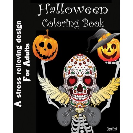 Halloween Coloring Book: A Stress Relieving Design for Adults: Pattern Coloring Book (Paperback)