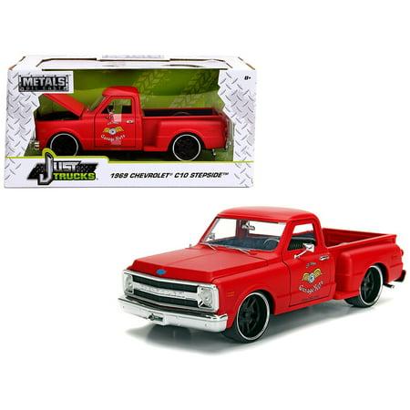 1969 Chevrolet C10 Stepside Pickup Truck Matt Red