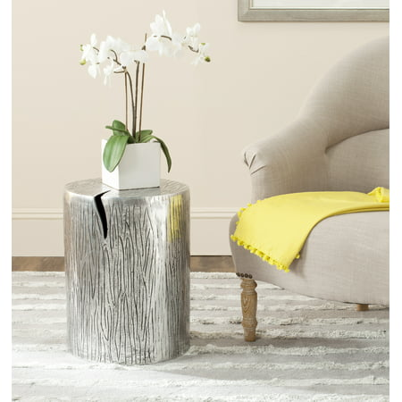 Safavieh Forrest Contemporary Metal Table Stool, Silver