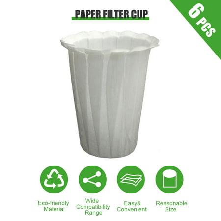 Coffee Filters Paper Cups Disposable Filter Paper Cup(6pcs) - image 1 de 6