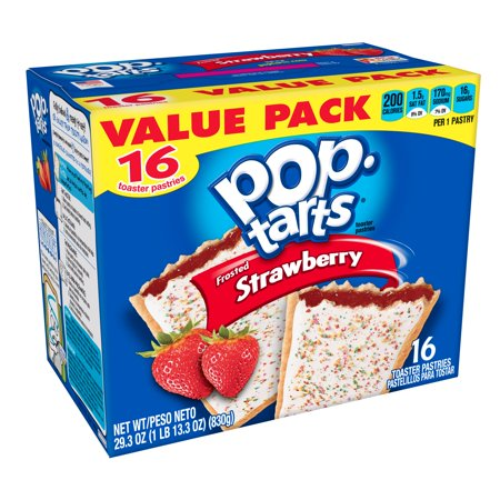 Pop-Tarts Breakfast Toaster Pastries Frosted Strawberry Flavored Value Pack 29.3 oz 16 Ct